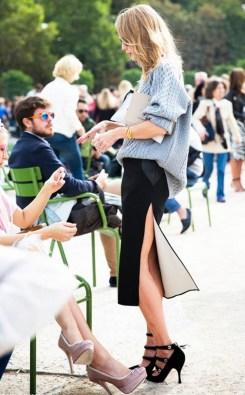 A fashion editor during Paris Fashion Week