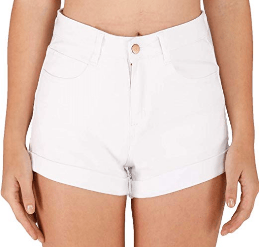 White High Waisted Shorts.png
