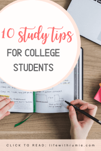 study tips for college