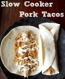 Slow Coooker Pork Tacos