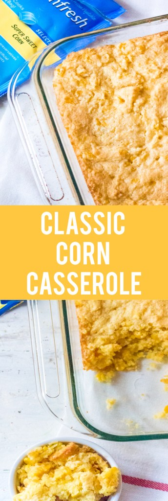 Classic Corn Casserole is the perfect dish for any holiday meal.  Super sweet corn and cream cheese makes this dish amazing!