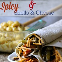 Budget Meals with Cheesy BBQ Chicken Tacos with Spicy Shells & Cheese