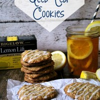 Lemon Oatmeal Iced Tea Cookies for Roadtrippin with Bigelow!