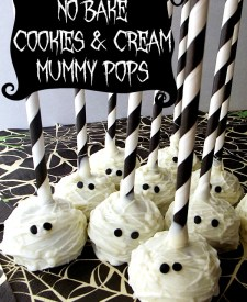 No Bake Cookies and Cream Mummy Pops
