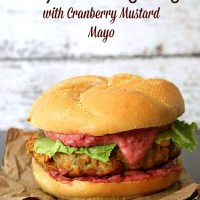 Turkey & Stuffing Burger with Cranberry Mustard Mayo