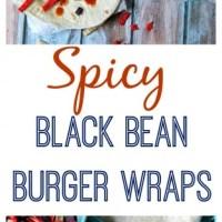 Spicy Black Bean Burger Wraps