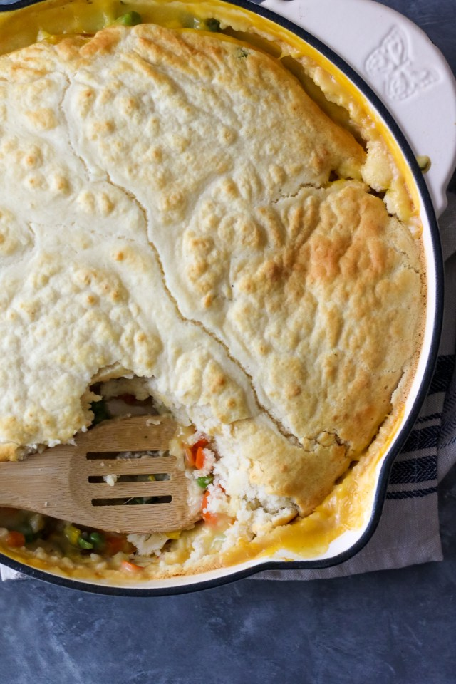 One Pot Chicken and Wild Rice Pot Pie (1 of 1)