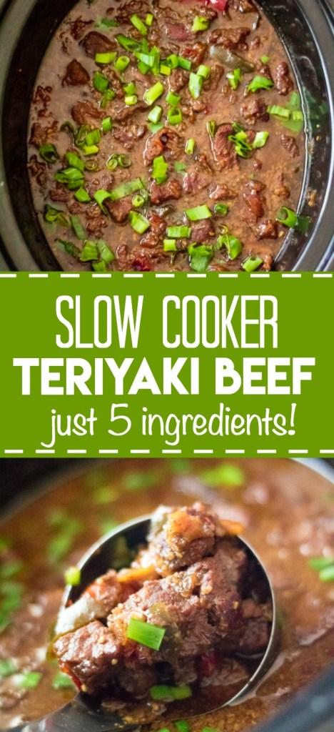 Slow Cooker Teriyaki Beef, just 5 ingredients