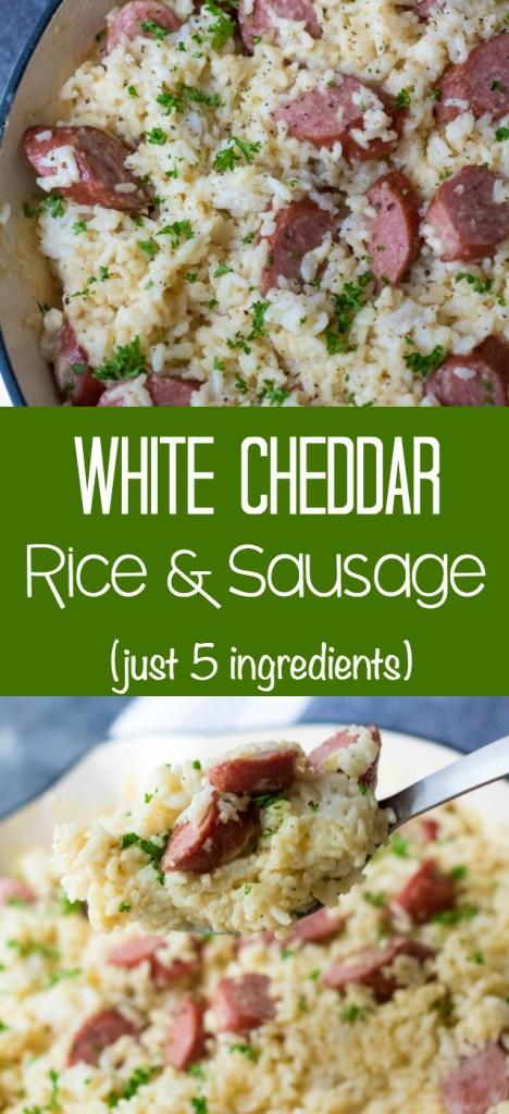 White Cheddar Rice & Sausage