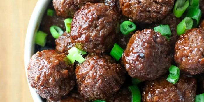 Slow Cooker Korean Meatballs