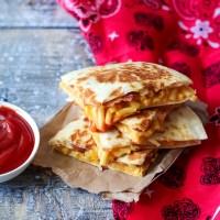 Loaded Mac & Cheese Quesadillas
