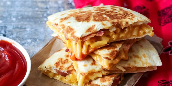 Loaded Mac & Cheese Quesadilla