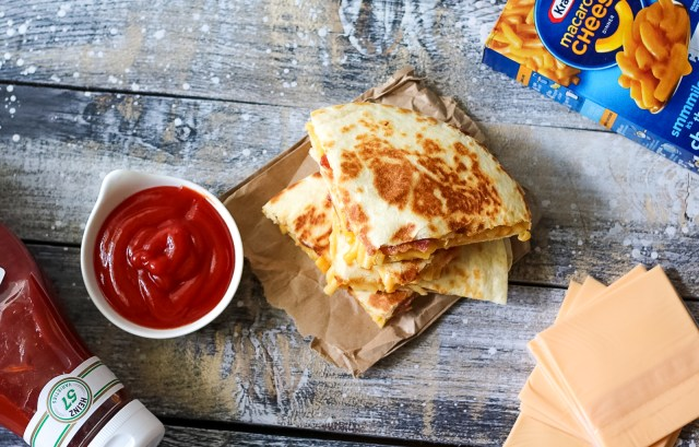 Loaded Mac & Cheese Quesadilla-8