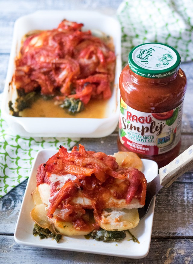Chicken Spinach Potato Bake-5