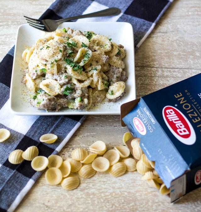 Creamy Sausage and Broccoli Orichette-3