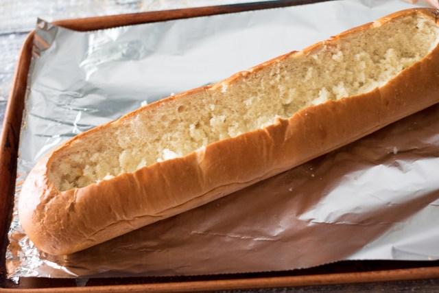Lasagna Stuffed Garlic Bread-1