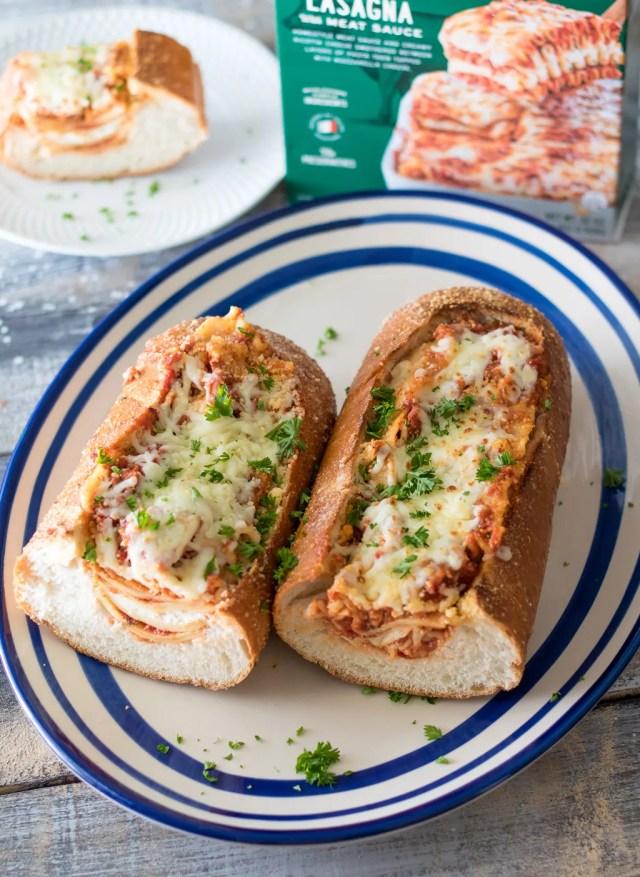Lasagna Stuffed Garlic Bread-6