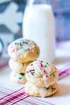 Christmas Cream Cheese Cookies are going to be your new favorite holiday cookie! They melt in your mouth and are so festive with their sprinkles.