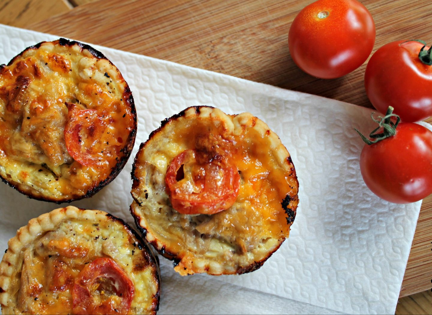 Healthy Snacks for Kids: Tomato and Tuna Mini Quiches