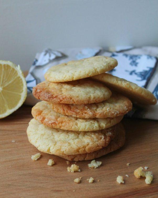 Lemon Crinkle Cookies, baking with the kids