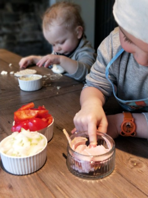 Cooking With Your Toddler Pizzas