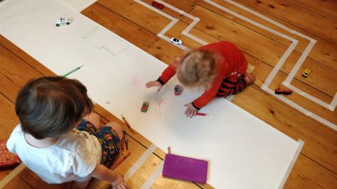 Masking Tape Race Course