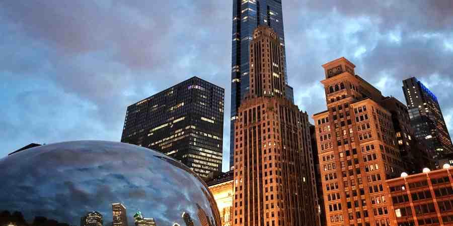 Chicago Skyline, Millennium Park