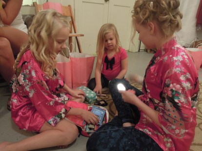 Lucia was in heaven glamming up with the Geake girls