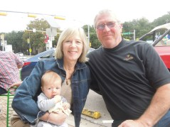 Darlene and Mike were surrogate grandparents for the weekend, helping out with Jameson.