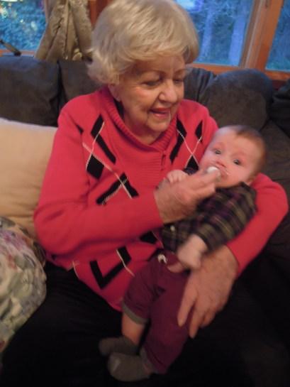 Grandma Marilyn with Jameson