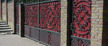 Brick Fences with Gates