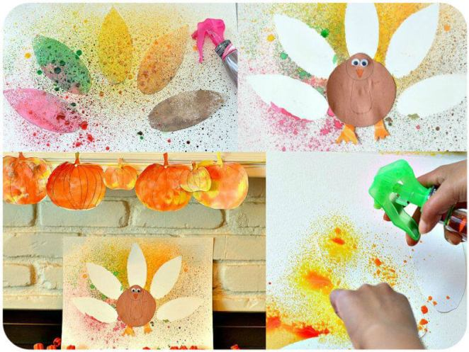 Spray Painted Turkey Craft