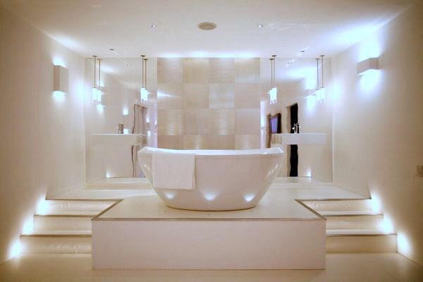 LXP - Life experiences in lightning in bathroom design tub for luxurious bathing