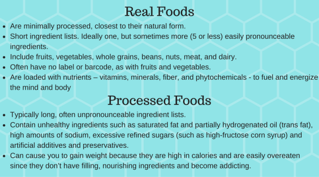 eat real food over processed foods