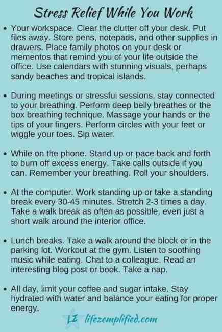 stress affects and stress relief tips for work