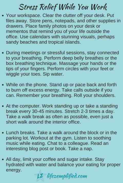Significant Workplace Stress Relief Tips