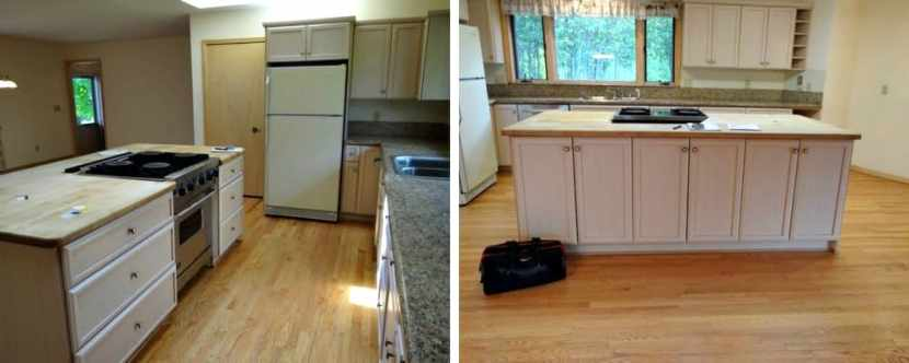 DIY Rustic Kitchen Redo Before Picture 3