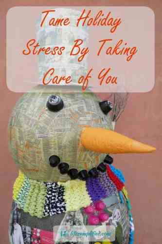 Tame The Holiday Stress Monster By Taking Care of YOU