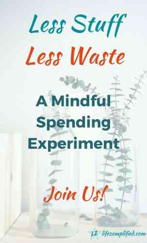 less stuff less waste experiment join us