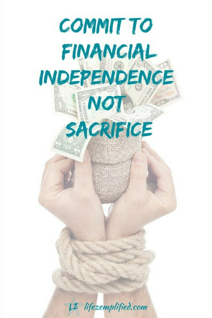 While committing to financial independence requires making some tradeoffs, you can reach it without all sacrifice. The key is knowing what you want, big houses and fancy cars today or years of financial freedom tomorrow. Know what you want, set a goal and go for it. Try these steps. #financialindependence #savingmoney #financialfreedom #financialgoals