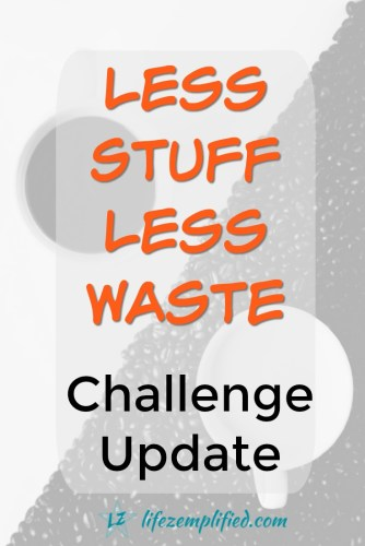 Imagine More [A Less Stuff Less Waste Challenge Update]