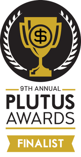 9th annual plutus awards finalist badge