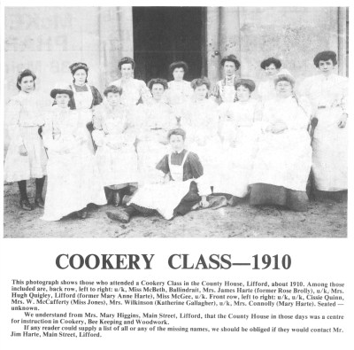 Cookery Class 1910