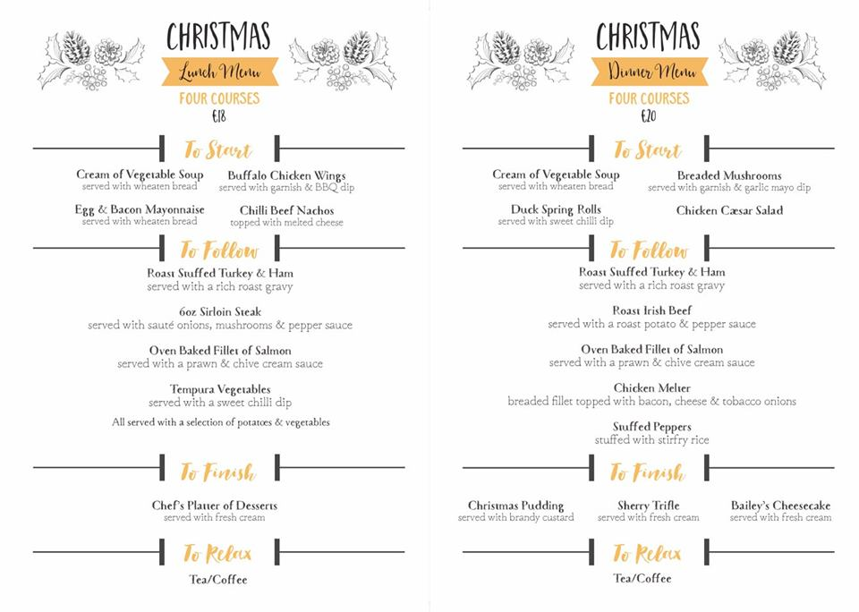 Christmas Lunch Menu