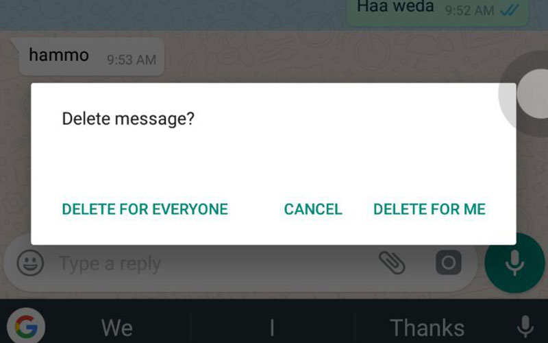 How to check a deleted message from whatsapp