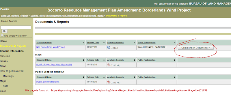screenshot - blm submission form