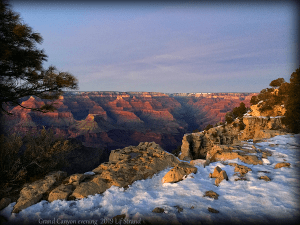 Grand Canyon in the evening