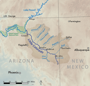 map of the Little Colorado Basin