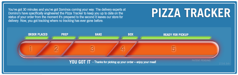 Exhibit B (the Pizza Tracker)