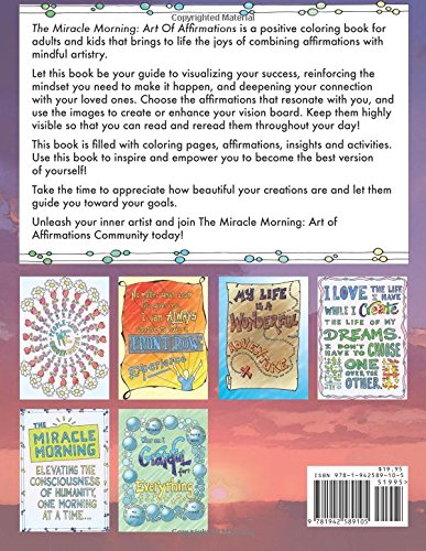 10 Entertaining Adult Coloring Books: The Miracle Morning Art of Affirmations via LiftingMakesMeHappy.com